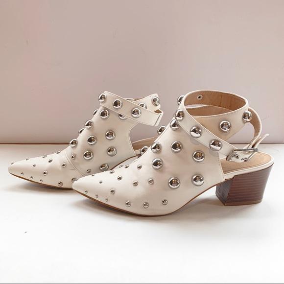 Qupid Shoes | Qupid White Studded